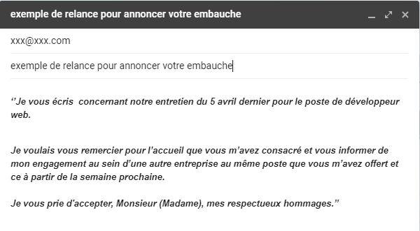 Mail De Relance Apres Un Entretien Sans Reponse Modeles Gratuits