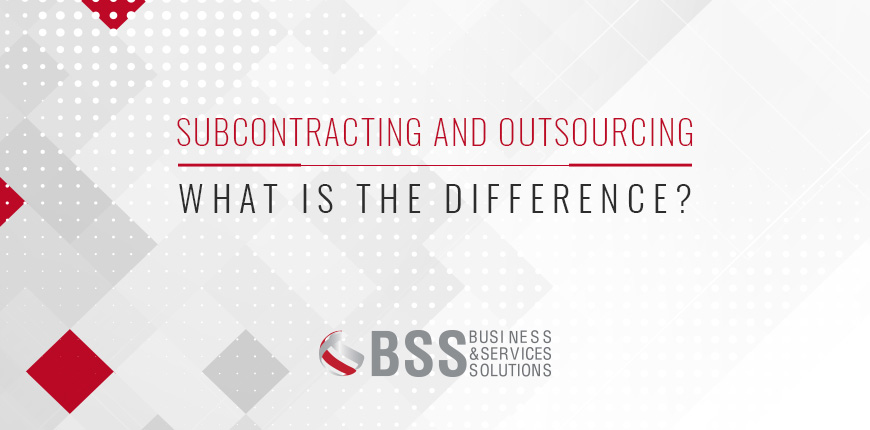 Subcontracting and outsourcing; what is the difference